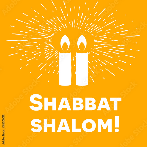Shabbat shalom lettering greeting card vector illustration two shabbat shalom lettering greeting card vector illustration two burning shabbat candles and bokeh m4hsunfo