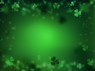 St. Patrick's Day, Green background by a St. Patrick's Day. Wall mural