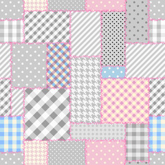 Seamless background pattern. Geometric patchwork pattern of a ractangles.