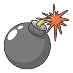 Bomb icon, cartoon style