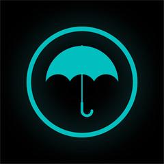 Neon Button rund - Regenschirm