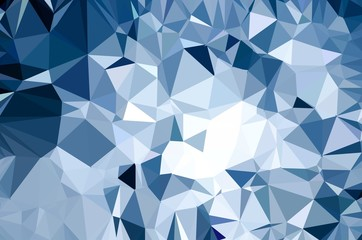 Blue Low Poly Abstract Background