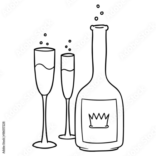 champagne flute cartoon vector images 43 - 800×800