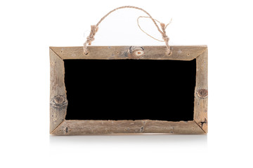 old wood frame on isolated