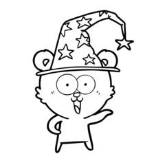 laughing wizard teddy  bear cartoon