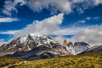 Mountains and rocks in Torres del Paine