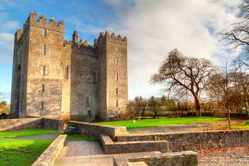 Aluminium Prints Castle Bunratty castle in Co. Clare, Ireland