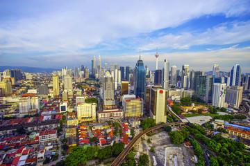 Kuala Lumpur, Malaysia City Center skyline .