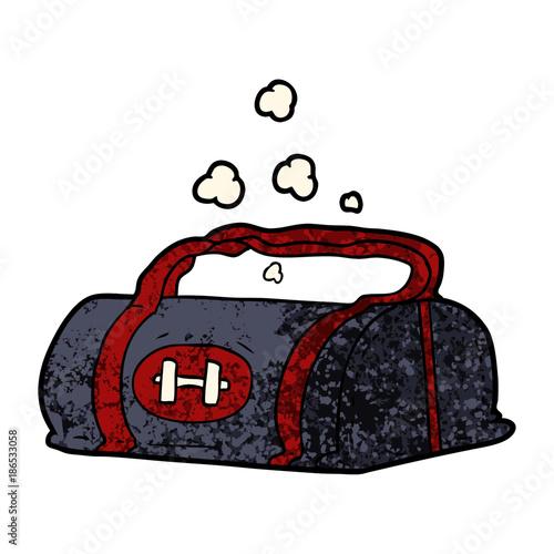 cartoon gym bag