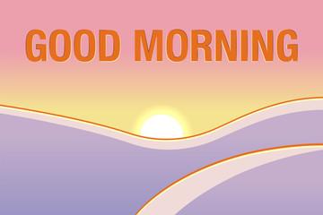 Good morning beautiful landscape. 2018 style