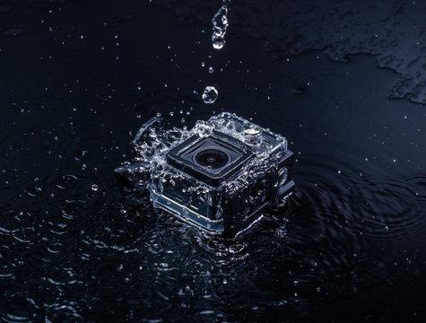 action camera in waterproof case
