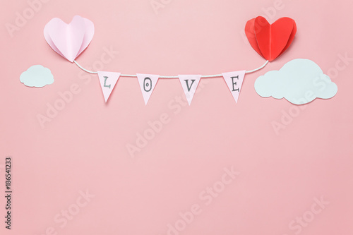 Flat lay image of decoration valentine\'s day background concept ...