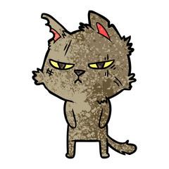 tough cartoon cat