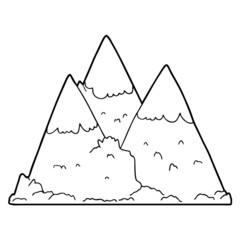 cartoon mountains