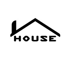 House logo icon. Vector illustration. Home symbol.
