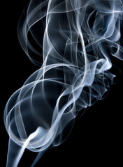 Smoke from a cigarette
