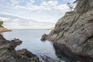 The cove sa tuna in Begur, Costa brava, Girona