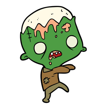 cute cartoon zombie