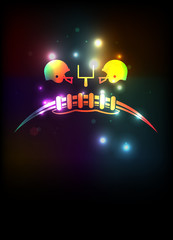 American Football Theme Background Template Illustration