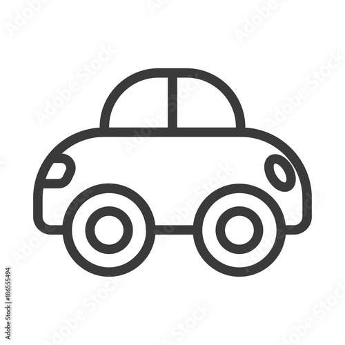 Baby Toy Car Icon Car Toy Vector Cute Newborn Item Stock Image