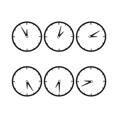 Clocks with difference time icon