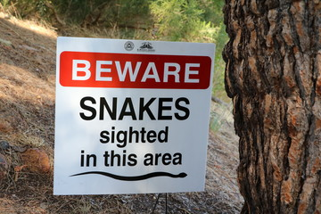 Caution Beware of Snakes, Western Australia