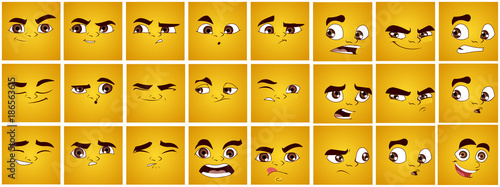Cartoon Expressions Emoticons, Angry Expressions, Love