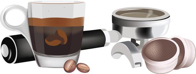 tazzina caffè con manico porta cialde