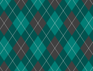 Green and Grey Argyle Background