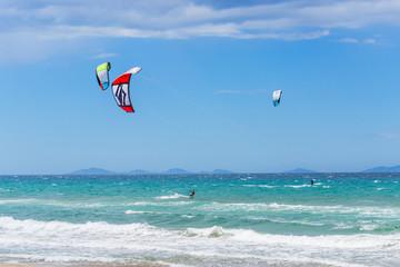 Kite surfer in Sardinia