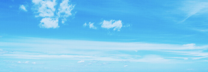 Blue sky and white clouds in Sardinia
