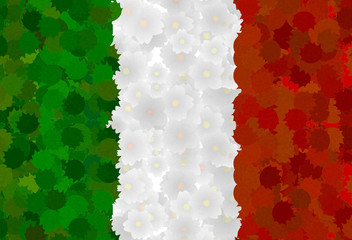 Italian Flag with natural motives