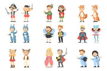 Children costumes set.