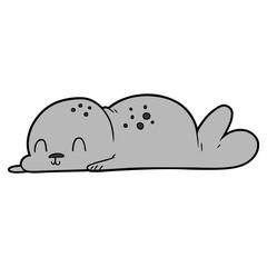 cute cartoon seal pup