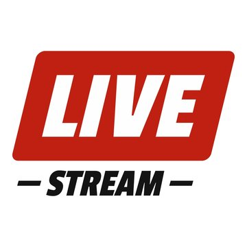Hot live stream icon. Flat illustration of hot live stream vector icon for web.