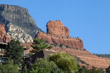 Stunning red sandstone rock in Sedona Arizona