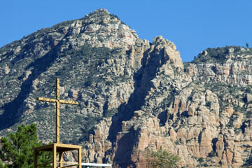 A cross in the town of Sedona Arizona