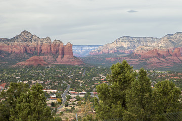Town of West Sedona as seen from the top of the Mesa