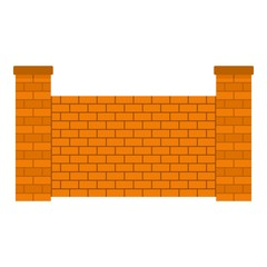 Fence of brick icon. Flat illustration of fence of brick vector icon for web.