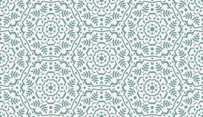 Abstract Oriental Pattern. Modern Shape. Endless Vector.