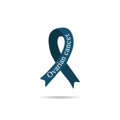 Cancer Ribbon. Ovarian cancer. International Day of cancer. World Cancer Day. Vector illustration on isolated background