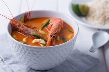 Traditional Thai soup Tom Yam