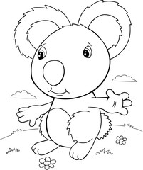 Cute Koala Bear Vector Illustration Art
