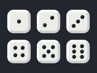 Craps. White dice vector illustration