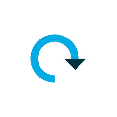 Rotate icon colored symbol. Premium quality isolated refresh element in trendy style.