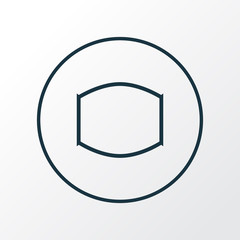 Monitor icon line symbol. Premium quality isolated wide angle element in trendy style.