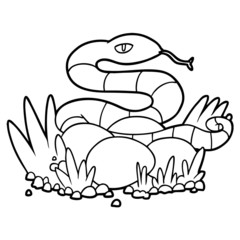 cartoon snake in nest