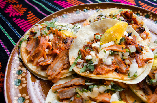 Mexican food: Tacos al pastor