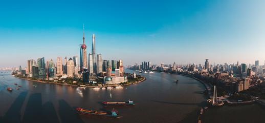 Foto op Aluminium Shanghai Shanghai skyline panoramic view, Shanghai China