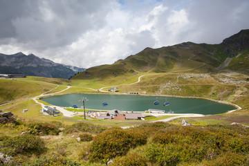 Summer landscape in Obertauern ski resort